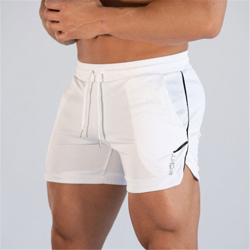 Bermuda Masculina New Men Bodybuilding Shorts Men Summer Short Gyms Workout Male Breathable Mesh Sportswear Appareil Musculation