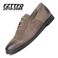 39 44 Men Oxfords Top Quality 100 Genuine Cow Leather Handsome Comfortable FZTTFO 2018 2088 Brand