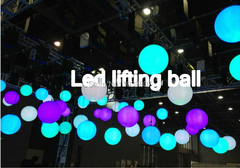 Free Ship Hanging Led Lifting Ball Light Stage Disco Club Bar Dmx512 Elevate Winch 1 5m Height In Lighting Effect From