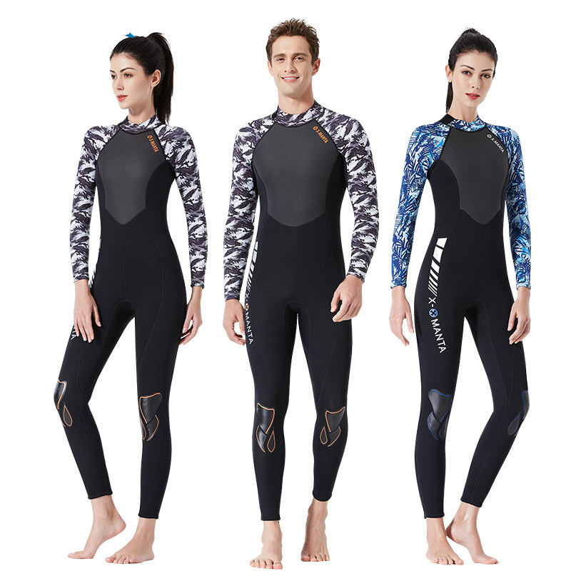 Women Full Body Scuba Dive Wet Suit 3mm Neoprene Wetsuits Winter Swim Surfing Snorkeling Spearfishing Water