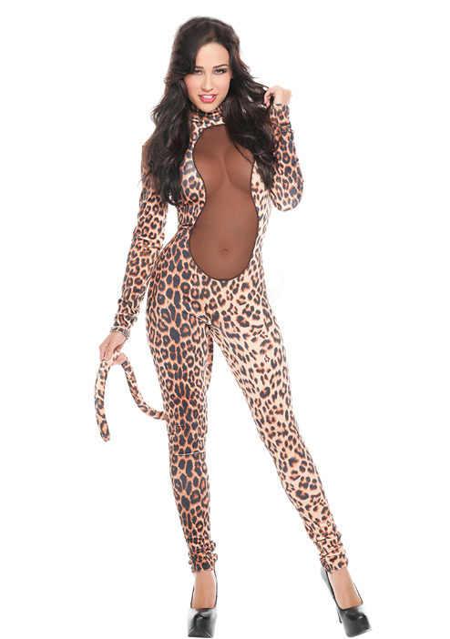 2eb8748ec81b Leopard Leotard Costume Carnival Leopard Costume Women Adult Sexy Halloween Prowl  Leopard Costume Set