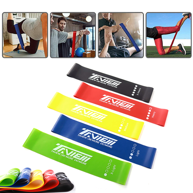 Elastic Resistance Bands Set Women Fitness Rubber Loops BodyBuilding Gym Strength Workout Expander Yoga Exercise Training Bands