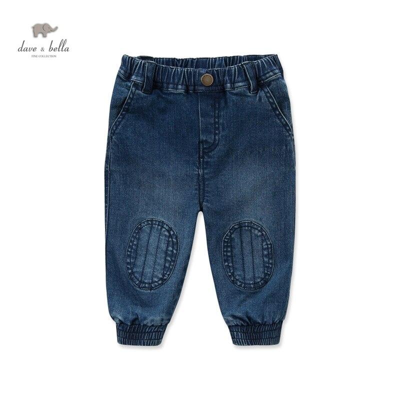 DB4219 dave bella autumn baby boys pants babi trousers boys  jeans denim blue pants sachin babi повседневные брюки