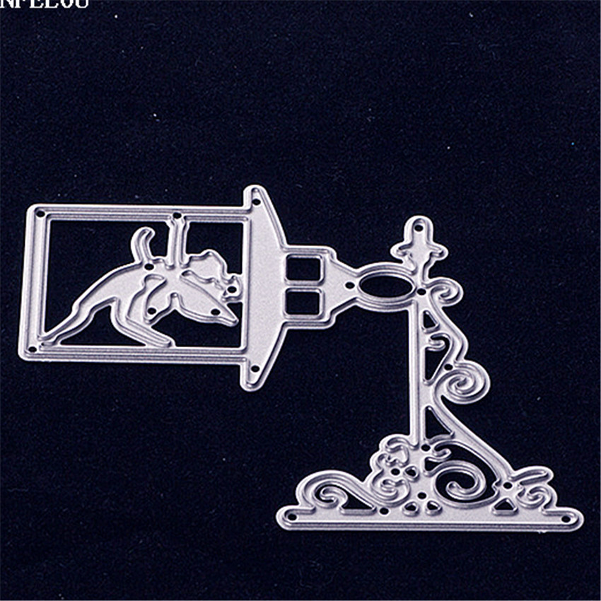 PANFELOU Christmas A small desk lamp Scrapbooking card album paper die metal craft stencils punch cuts dies cutting