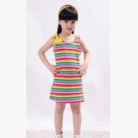 Модное детское платье Коллекция 2018 года, новое летнее платье в консервативном стиле для девочек Size4 16 лет, 3 цвета цветное платье без рукавов