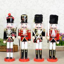 D322 British style 30cm exquisite workmanship Nutcracker, wood hand-painted walnut puppets doll toy 1pcs