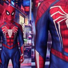 New ps4 insomniac spiderman costume Spandex Games Spidey Cosplay Halloween Spider-man Costumes For Adult/Kids Free Shipping