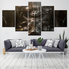 The power armor fallout 5 Piece Wall Art Canvas Print modern Poster Modular art painting for Living Room Home Decor