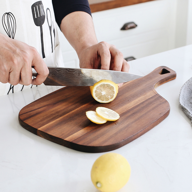 High Quality New Black Walnut Handmade Wood Cutting Board Solid Wood Whole Wood Chopping Board Bread Tray Baking Cooking Tools 4