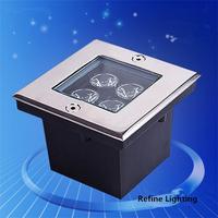 LED Underground Light 4W Square Garden Floor Lamp IP65 Stainless Steel Outdoor Lighting Deck De Jardim