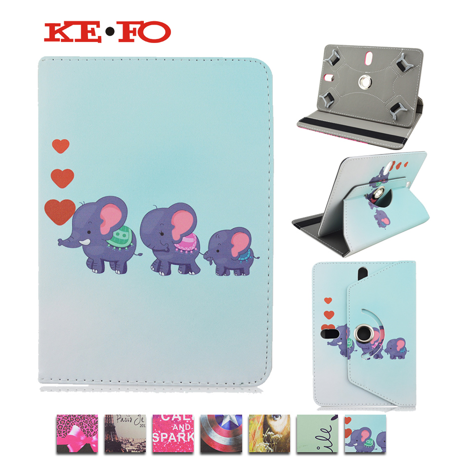 360 Rotating PU Leather Case For MultiPad Thunder 7.0I /Texet X-pad QUAD 7 TM-7054 7 inch Universal 7.0 inch tablet cover KF492A