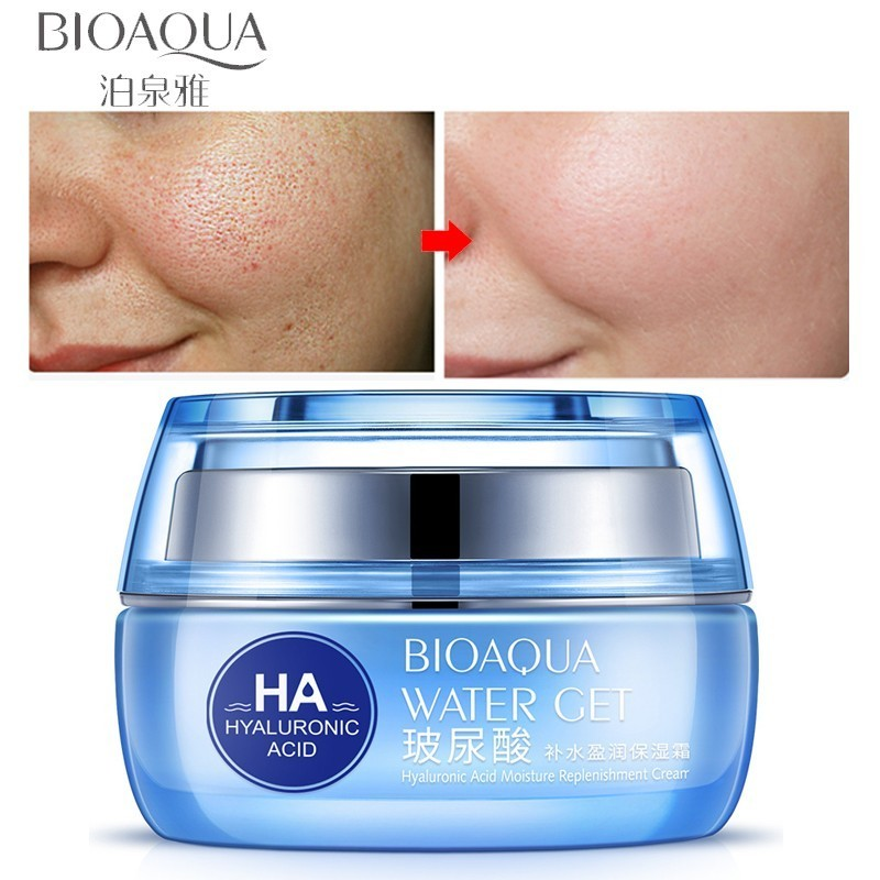 BIOAQUA Hyaluronic Acid Face Moisturizer Cream Deep Hydrating Anti-Wrinkle Face Cream Facial Day Cream Cosmetic For Dry Skin 50g image
