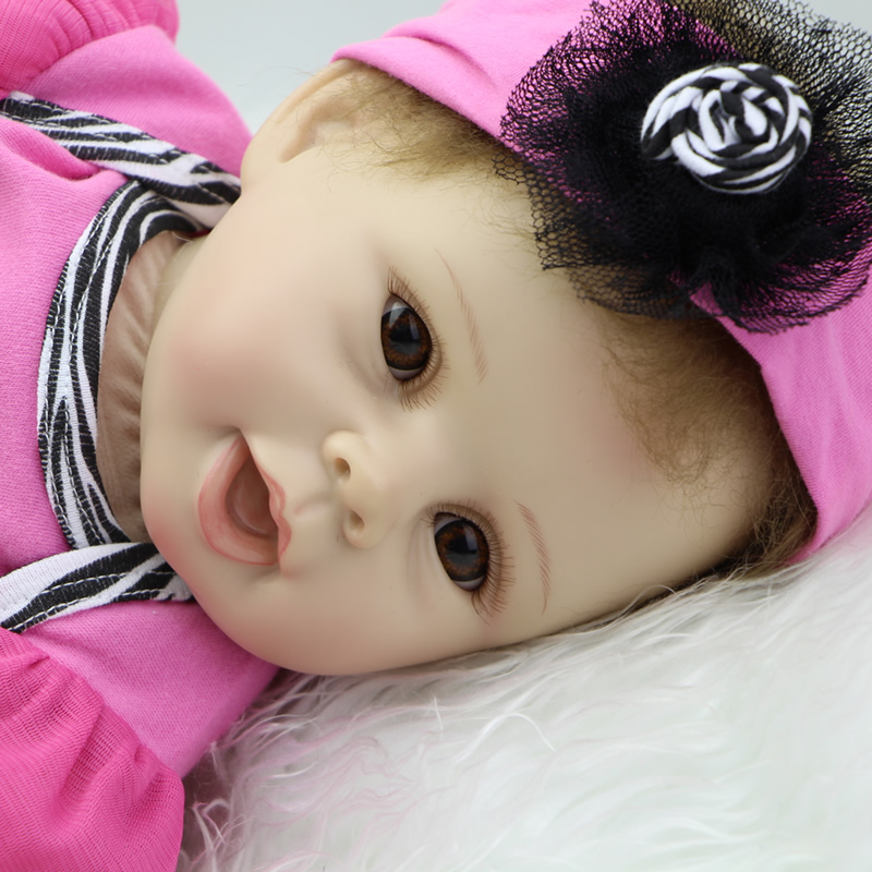 Soft Silicone Vinyl Reborn Baby Dolls 22 Inch Truly Real Lifelike Babies Kids Birthday Xmas Gift Free Magnet Pacifier Dummy