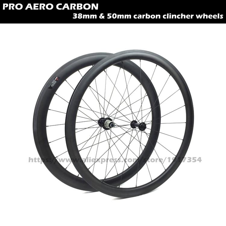 700C fixed wheels Front 38mm wheels Rear 50mm wheels,carbon bike wheels clincher wheelset  for sale