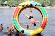 2016 inflatable rolling circle inflatable water game inflatable water sports
