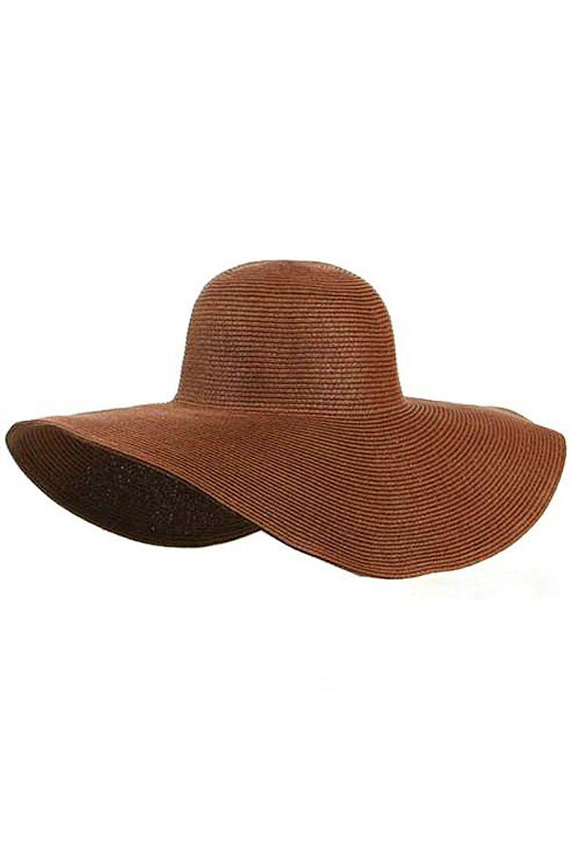 1829256ec42 Hot NEW Ladies Summer Sun Beach Floppy Derby Hat Wide Large Brim Coffee on  Aliexpress.com