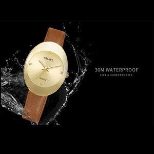Image 4 - Smael novo relógio de quartzo inoxidável relógios femininos moda casual marca luxo senhoras relógio digital sl1880 mulher relógios à prova dwaterproof água