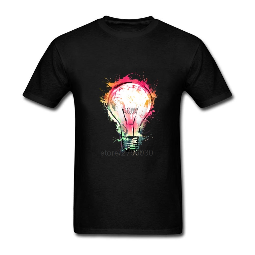 Shirt Designs Ideas 28 creative t shirt designs demonstrate that image on chest isnt the only choice Splash Ideas Design New Color Bulb Mens T Shirts Plus Size Man Top Tees 2017 Mermaid