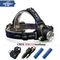 head flashlight Frontal led headlight CREE XML T6 XM L L2 headlamp 3800 lumens head lamp 18650 Rechargeable Battery