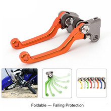 цена на Motocross Pit Bike Dirt CNC Foldable Pivot Brake Clutch Lever For Husqvarna RR 2T RR RS 4T X-Trainer CR125-300 WR125-300