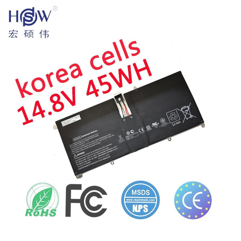 HSW Nouveau 14.8 v 45Wh HD04XL Batterie Pour Hp Envy Spectre Xt 13-2021tu Xt 13-2000eg Xt 13-2120tu 685866-1b1 685866- 17