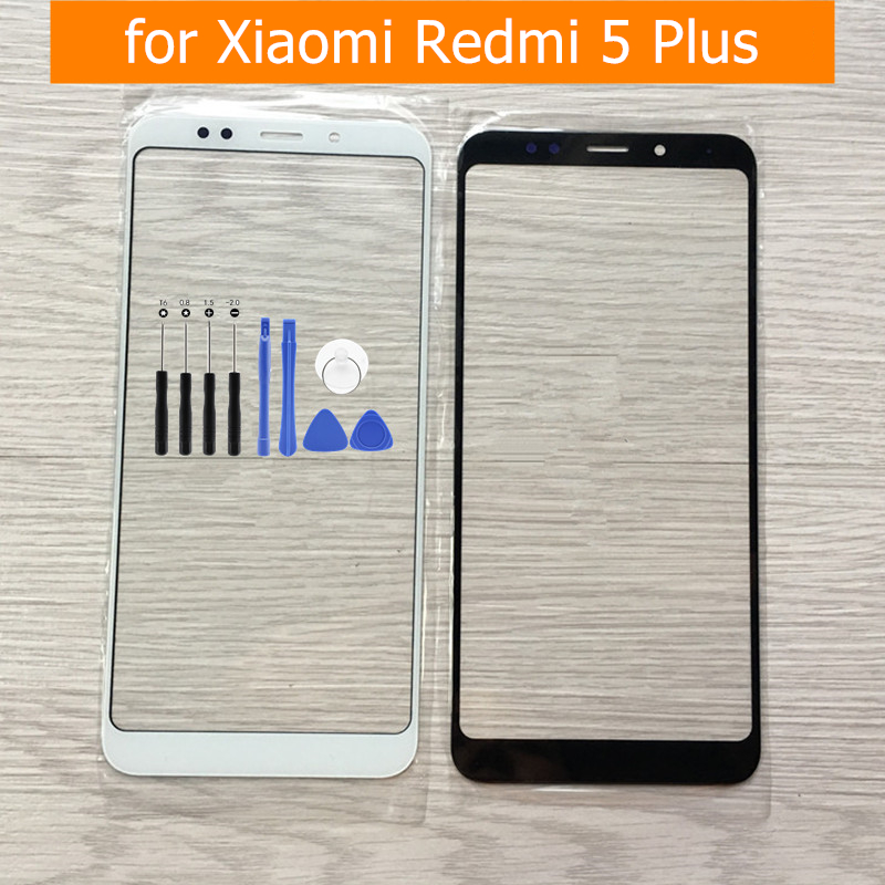 for Xiaomi Redmi 5 Plus Touch Screen Redmi 5plus Front Glass Panel Cover Outer Glass Lens Replacement Spare Parts +Tools
