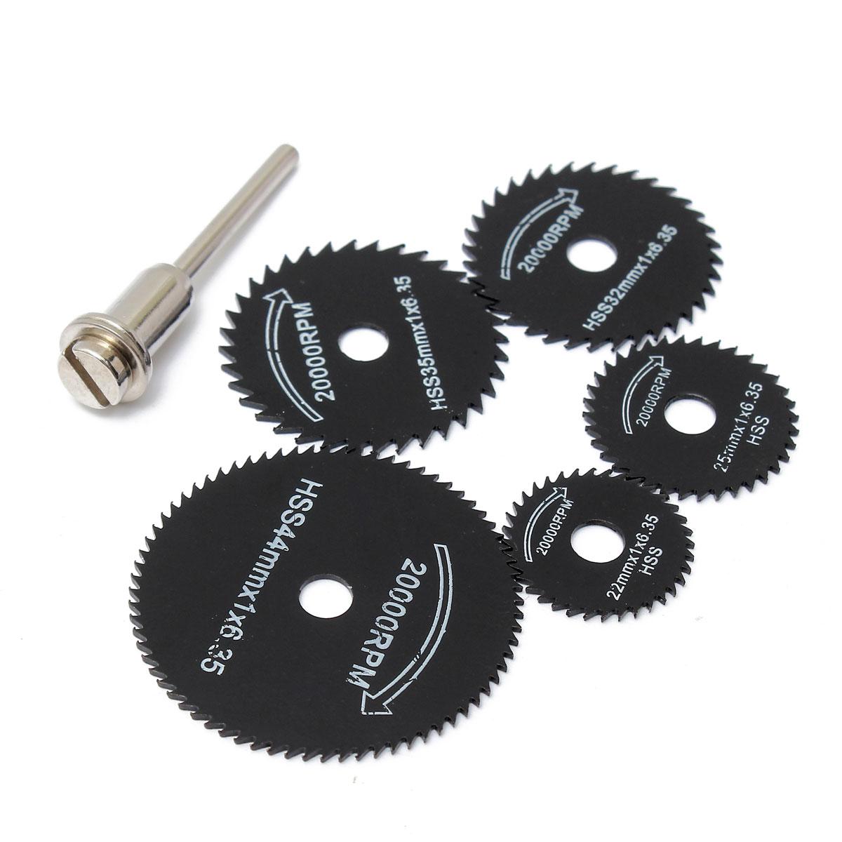 6 unids / set Metal HSS Hoja de sierra circular Discos de corte de - Hojas de sierra - foto 6