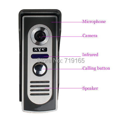 ФОТО Home Security Video Door Phone Intercom Kit Security System Outdoor Camera Calling Button Speaker 4 Wires Core.