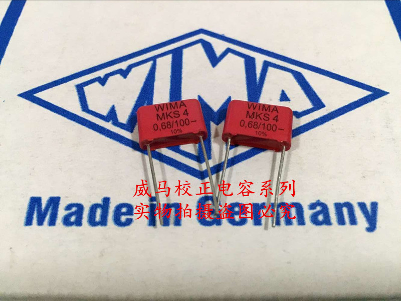 2019 hot sale 10pcs/20pcs Germany WIMA MKS4 <font><b>100V</b></font> <font><b>0.68UF</b></font> <font><b>100V</b></font> 684 680nf P: 10mm Audio capacitor free shipping image