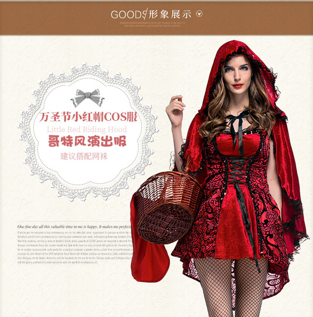 Hot Sexy Dres Plus Size S M L XL XXL Costume Adult Little Red Riding Hood Costume Halloween  sc 1 st  AliExpress.com & Hot Sexy Dres Plus Size S M L XL XXL Costume Adult Little Red Riding ...