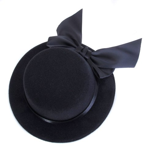 Fashion Ladies Hat Fascinator Burlesque Millinery w/ Bowknot - Black