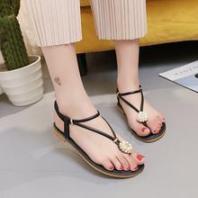 c430e7085 Marlong Woman Shoes Bohemian Beaded Women Flat Sandals Flip Flops Clip Toe  Brand Quality Sexy Sandals
