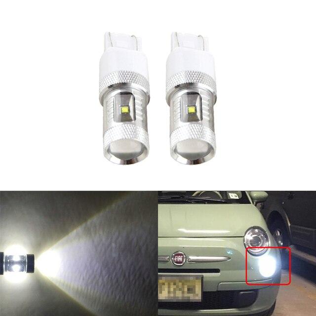 2PCs Xenon White 30W High Power Led Bulbs For Fiat 500