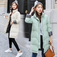 Winter Women's long Cotton Parka Collar Coat Quilted Jacket