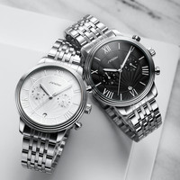 Stainless Steel Men's Watch Man Wristwatch Luminous Pointer Watches Luxury Brand Male Sports Geneva Quartz SINOBI Watches Reloj