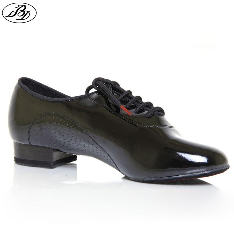 Hombres Zapatos de baile estándar BD 309 SHINING Zapatos de baile de salón de suela dividida Danza moderna Zapato interior