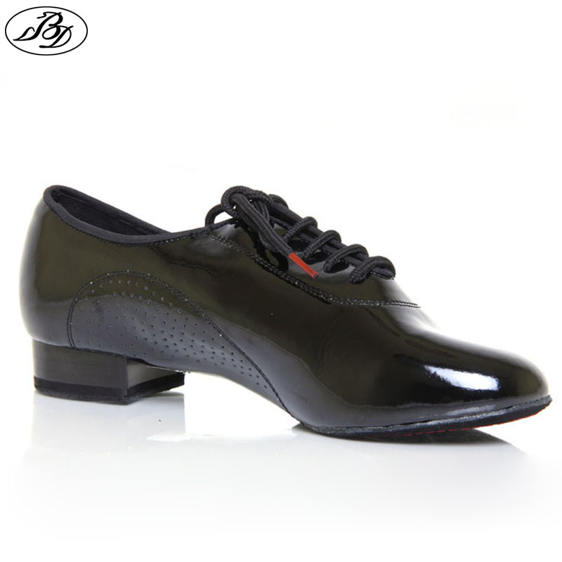 Mænd Standard Dansesko BD 309 SHINING Split Sole Ballroom Dansesko Moderne Dancing Dancesport Indoor Shoe