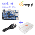 Orange Pi Win Set 3: Pi Win+ Transparent ABS Case+ USB to DC 4.0MM - 1.7MM Power Cable Support Android, Ubuntu, Debian