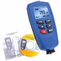 Paint Coating Thickness Meter Gauge Built In Auto F NF Probe USB Cable CD Software 400