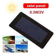 Flexibility 0.3W 2V Waterproof Solar Panel Camping Generator Durable Light Charger Pane