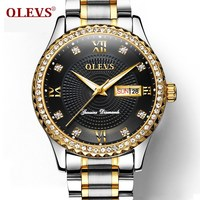 OLEVS Top Brand Luxury Men Business Watches Waterproof Luminous Diamond Male Clock Watch Bracelet Strap Mans