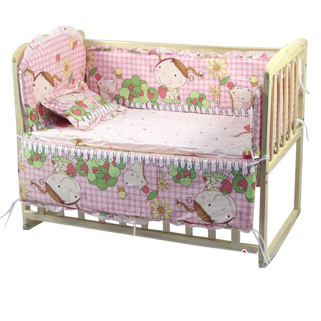 5 pcs cama do bebe para choques algodao puro infantil conjunto de cama recem nascido dos