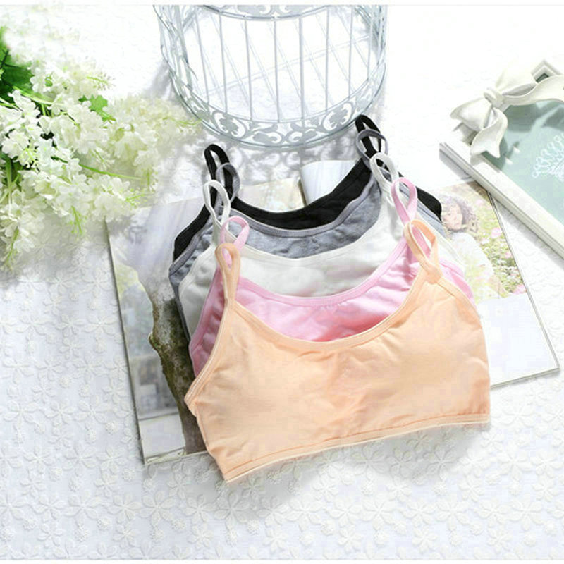 5pcs/lot Kids Girls Cotton Bra For Young Girls Kids Teenage Underwear Wireless Small Training Puberty Bras Undergarment Clothes