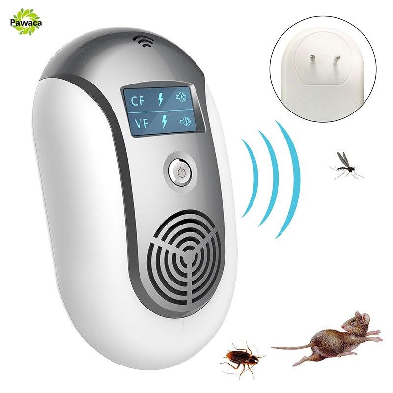 Repelente de plagas ultrasónico para el hogar, repelente de mosquitos, repelente de roedores, repelente de insectos, repelente de insectos, ratones lunares, enchufe EU/US/UK