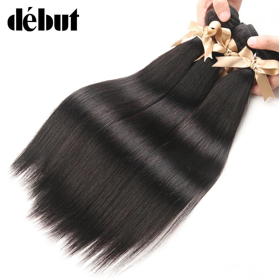 Debult Hair 8 To 30 Inch Remy Peruvian Straight 3 Bundles De