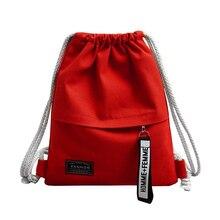 Холщовый Рюкзак на шнурке для школы, спортзала, парусиновая сумка на шнурке, сумка для хранения, рюкзак, сумка для школы, рюкзак для подростков
