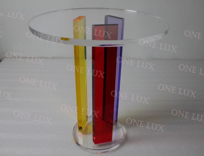 ONE LUX  Acrylic Rainbow Coffee Table, Round Lucite Living room Tables Small Size купить