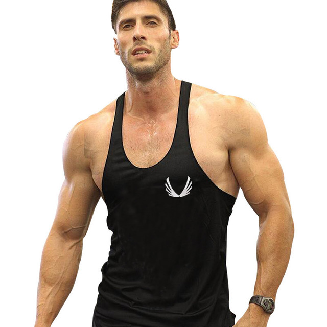 dcdcd66e Mens Clothing Sleeveless Muscle Tank Tops Men Fitness Shirt Mens Stringer  Singlet Bodybuilding Y BACK Racer Cotton Vest X-01