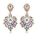 Женские богемные серьги KMVEXO, разноцветные свадебные серьги-подвески с кристаллами, стразы в стиле бохо