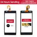 100% testado 4.6 polegada tela sensível ao toque para sony xperia zr m36h c5503 c5502 toque touch screen glass digitador parts livre adesivo